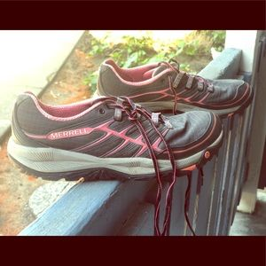Merrell Women Sz 8 All Out Rush Running Black/Pink